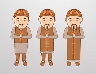 Kung-Fu Monk Characters