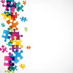 fond abstrait-pièces de puzzles