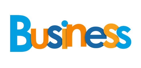 BUSINESS overlapping letters icon