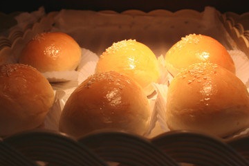 bread buns with sesame seeds