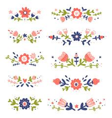 Decorative floral compositions collection