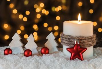Heiligabend Advent Kerze Weihnachten Karte