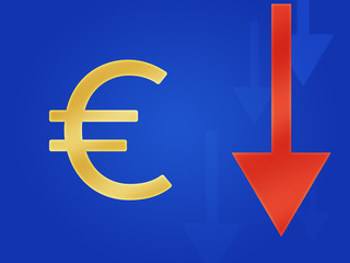 Euro Currency Fall Europe Graphic