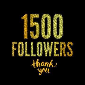 1500 followers