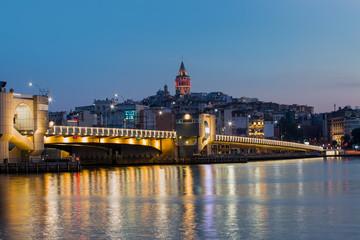 Golden Horn against Galata tower, Istanbul, Turkey