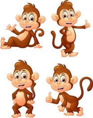 Set of monkey expressions