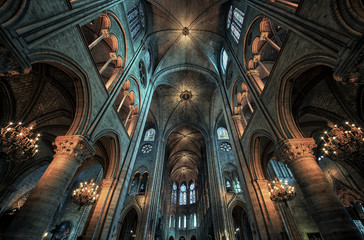 Fototapete - Cathedral Notre Dame in Paris