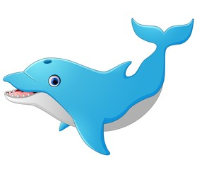 Cute cartoon dolphin