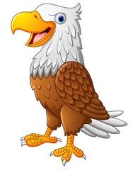 Cartoon eagle posing