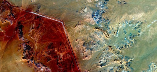 composition,abstract landscapes of deserts ,Abstract Naturalism,abstract photography deserts of Africa from the air,abstract surrealism,mirage in Sahara desert,fantasy forms of stone in the desert,red