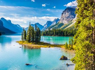 Fototapeta Spirit Island, Maligne Lake, Jasper National Park, Alberta, Canada