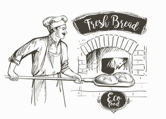 bakerl baked bread