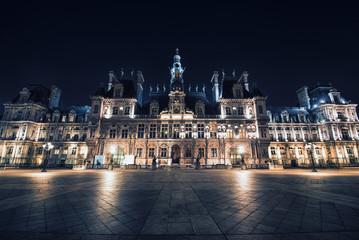 Fototapete - Main City hall in Paris