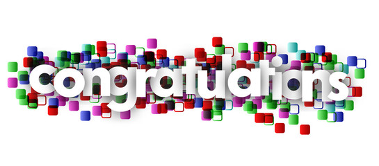 congratulations letters vector banner