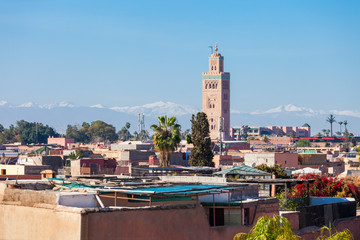 Marrakesh aerial view