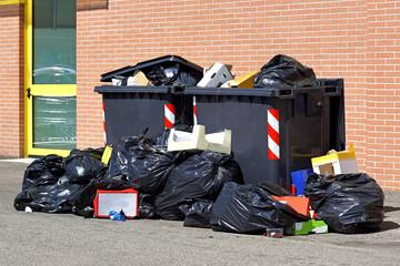 garbage bin full