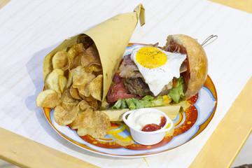 bun, gourmet, hamburger, burger, food, eating