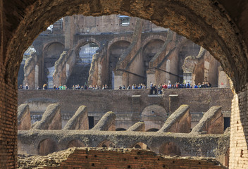 Inside view of Colosseum