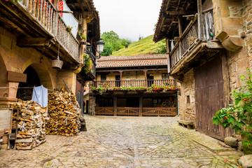 beautiful village of barcena mayor at spain