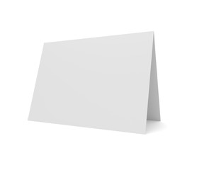Blank 3d illustration greeting card isolated on white.
