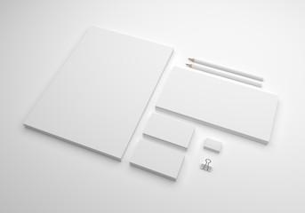 Pure soft 3d illustration mock-up template for logo design