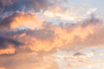 Aluminium Prints Heaven Clouds