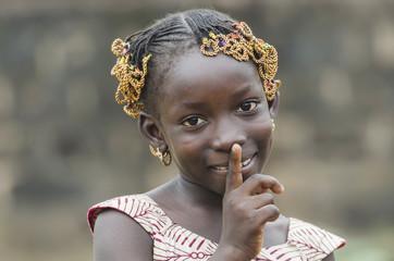 Gorgeous African Girl saying: Shut up!