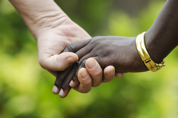 Peace for everybody! Stop racism, symbol for Health, Peace and Love!