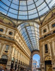 Keuken foto achterwand Milan Galleria Vittorio Emanuele II shopping art mall in Milan