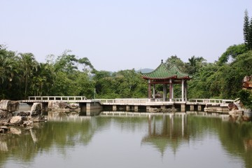The Buddhist religious center of Nanshan district on Hainan island in China
