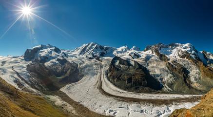 Le Liskamm et Le glacier du Gorner