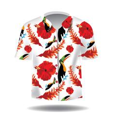 Hawaiian Aloha shirt. EPS 10 vector.