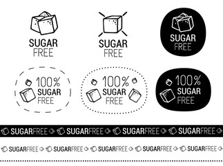 vector sugar free signs