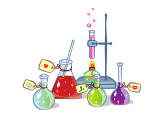 vector magic chemistry illustration