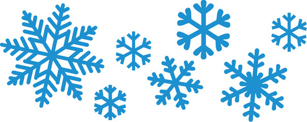 Snowflake set Wall mural