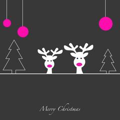 Rentiere - Merry Christmas