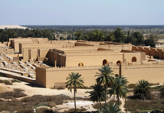 Restored ruins of ancient Babylon, Iraq.