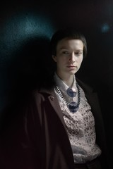 Portrait Of A Young Woman In The Dark