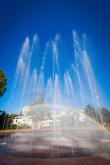 Sochi, Russia - water fountain.  View from street Navaginskaya