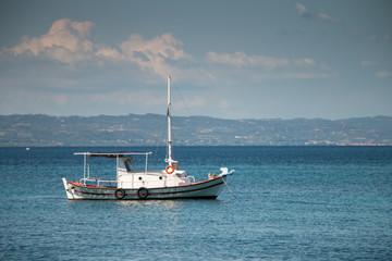 Aegean Sea. Boat