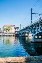 Pont ferroviaire sur la Saône du coté de la gare de Perrache