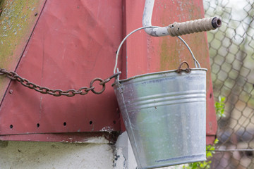 Water well and a bucket