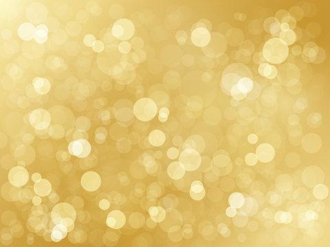 BRIGHT GOLD BOKEH LIGHTS Background