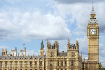 Palace of Westminster and Big Ben against sky