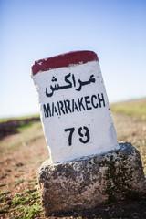 Straßenschild: Marrakech 79km
