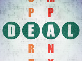 Finance concept: Deal in Crossword Puzzle