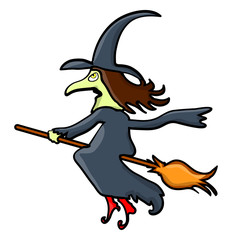 halloween creepy scary witch vector symbol icon design.