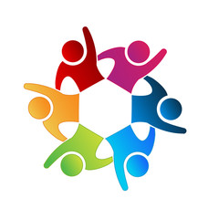 Logo teamwork people icon image design