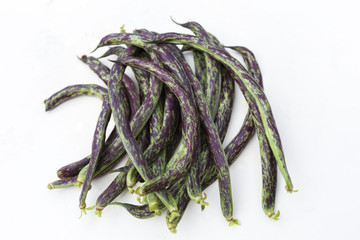 homegrown green haricot beans
