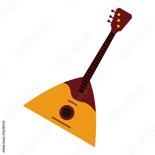 Guitar Triangle Icon In Flat Style Isolated On White Background